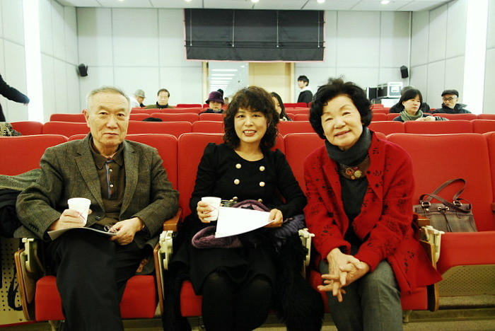 Left to right: Hwang Dong-Kyu, Kim Kyeong-Mi, Shin Dal-Ja